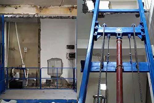 壁挂式液压升降机